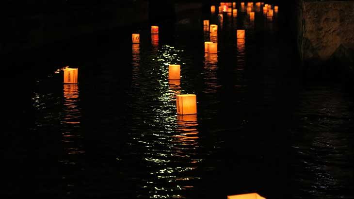 Send lanterns down the river