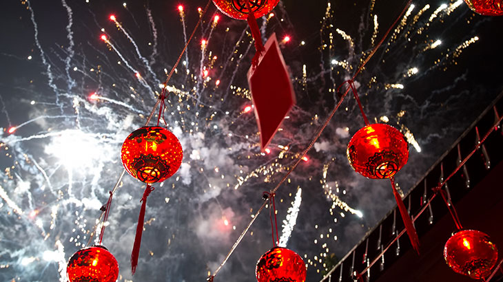 Fireworks on Chinese Lunar New Year