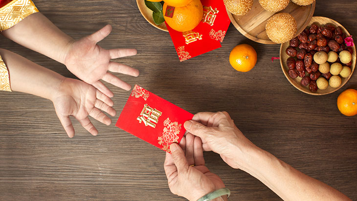 Red Envelopes exchanged during the Year of the Pig