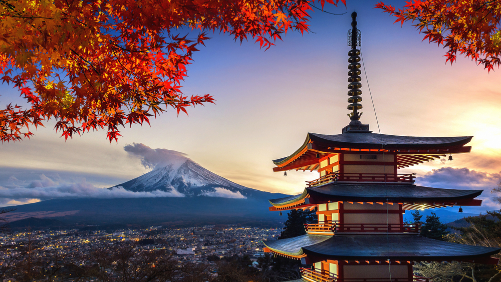 View of Mt. Fuji, Japan