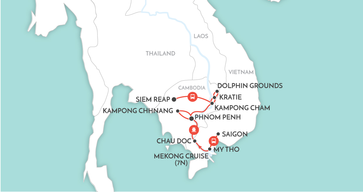 Classic Mekong Downstream map