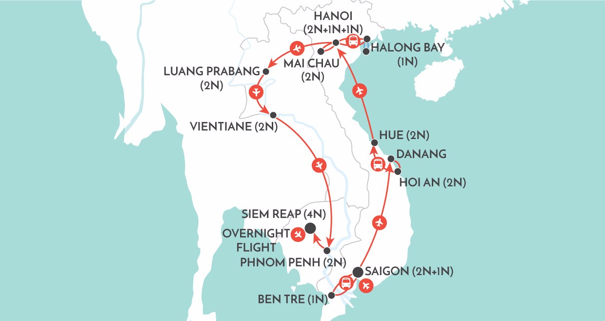 Indochina: The Big One map