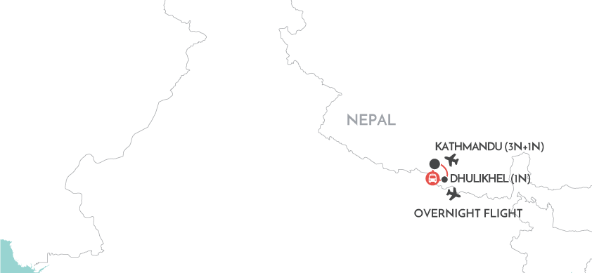 Highlights of Nepal map