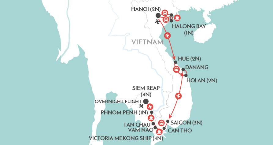 Mekong Explorer map