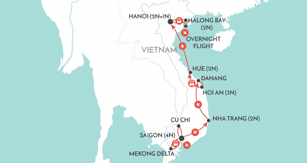 Classical Vietnam map