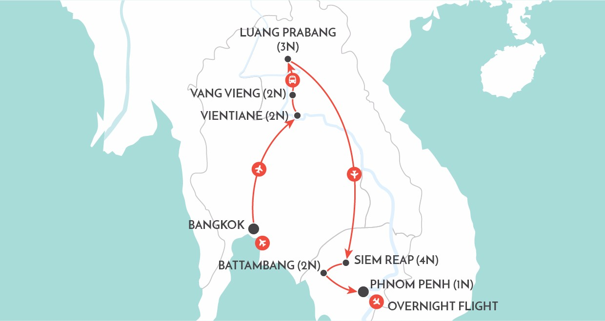 Laos and Cambodia Unveiled map