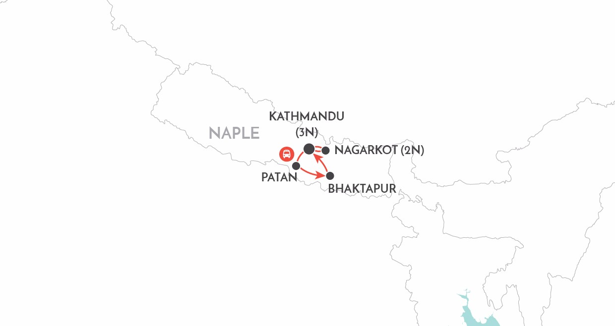 Nepal Short Stay map