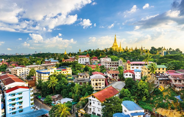Day 1: Fly to Yangon