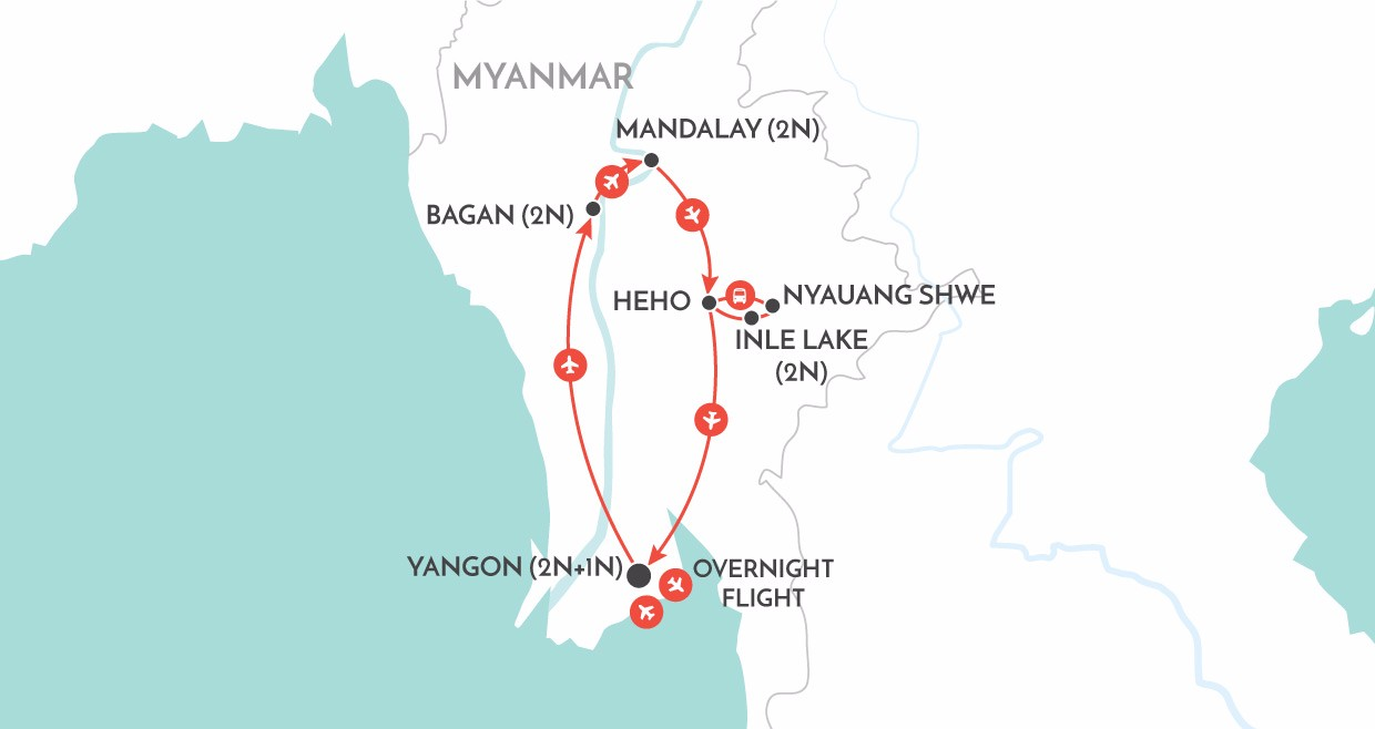 Myanmar Explorer map