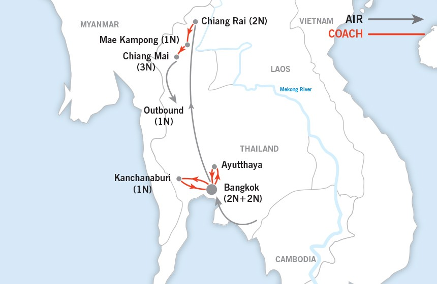 Thailand Highlights map
