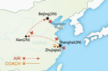 A China Experience map