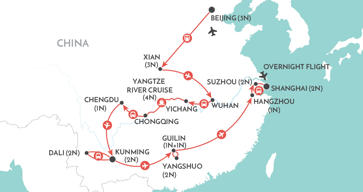 Grand Tour of China map